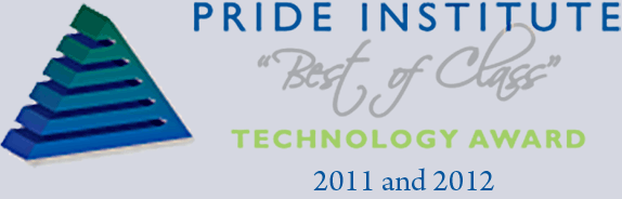 Pride Institute Best of Class Technology Award 2012